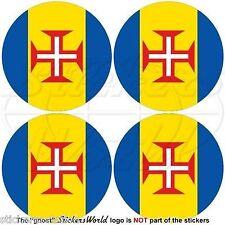 "MADEIRA ISLAND Portugal Portuguese Bumper-Helmet Stickers, Decals 2"" (50mm) x4"