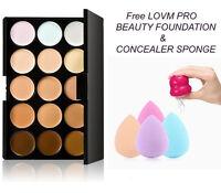 Mac Lidschatten x15 Warm Neutral Palette + Sponge Puff + Puderpinsel Kosmetik DE