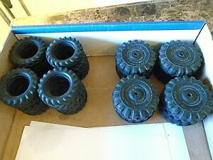 (8) 1950's HUBLEY Solid Rubber Tires &  (16) ERTL Farm Toy tires