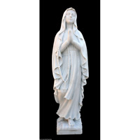 Estatua Madonna Beata Maria Virgen Mármol Blanco Arte Sagrada Escultura