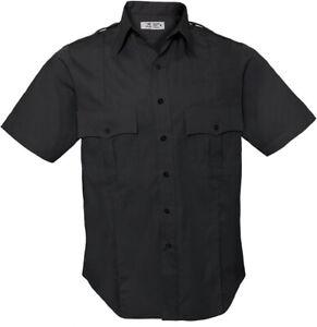 Uniform Short Sleeve Shirt Men's Official Duty 2 Pocket Epaulets Police Security