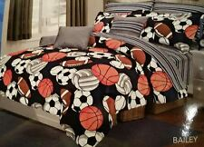 SPORTS COMFORTER SET 9PC Boys Bedding SHEETS Football Basketball Soccer Baseball