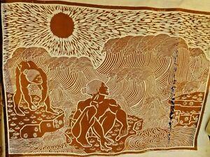"HAWAII KOA ""SIGNED"" / 1979 ""VEREZ.OPIHI  PICKERS"" RARE / FISH BALLS / KAMEHAMEHA"