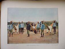 LE DAHOMEY:Gravure 19°in folio couleur/ LES HAMAQUAIRES AU DAHOMEY