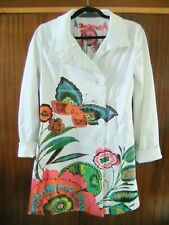 Desigual Floral & Butterfly Patterned Coat Size 40