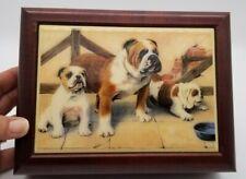 English Bulldog Sankyo Wood Jewelry Music Box Plays: Through The Eyes of Love