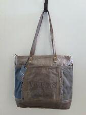 Myra Bags Victors Tote Bag Vintage Style Bicycle Canvas Handbag