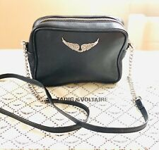 Zadig & Voltaire Black Leather Bag Cross Body Chain & Leather Stunning r.r.p£285