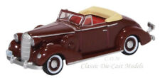 Oxford 1936 Buick Special Convertible Cardinal Maroon Die-Cast Metal Car 1/87 HO