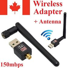 150 Mbps Wireless USB WiFi Network Adapter LAN Card w/Antenna 802.11N For PC