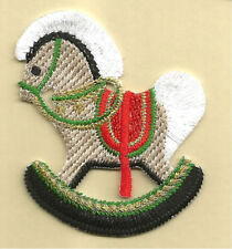 rocking horse iron on patch applique