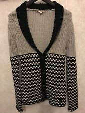 Dkny Mens Cardigan Jumper Thick Knit Size Medium