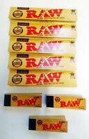 Raw King Size Slim papers 5 Roach Tips plus 3 Booklets