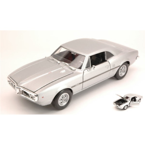 PONTIAC FIREBIRD 1967 SILVER 1:24 Welly Auto Stradali Die Cast Modellino