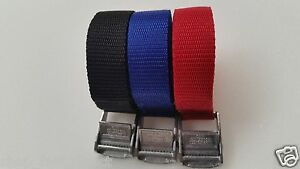 Buckled Straps 25mm Cam Buckle meters Long Heavy Duty Load Securing Colour