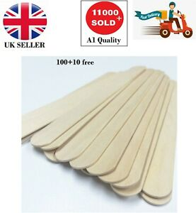 100 SPATULAS PROFESSIONAL DISPOSABLE WOODEN WAXING WAX STICKS PLUS + 10 FREE