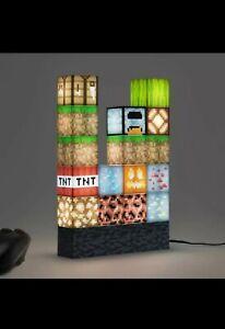 Minecraft Stiching Lamp Building Blocks USB Power  Stacking Block