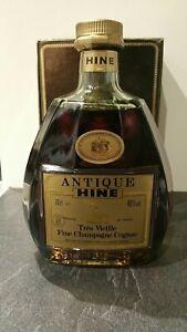 Bouteille Antique Hine Très Vieille Fine Champagne Cognac Rare Bottle