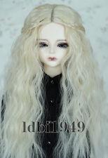 "1/4 7-8"" LUTS SD BJD DD Doll Dollfie Wig Long Blonde Hair 31"