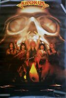 New In Plastic! RARE KROKUS 1983 VINTAGE ORIGINAL MUSIC POSTER Rock Hair Band