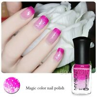 6ml Color Changing Polish Thermal Peel Off Nail Art Varnish Rose Red to Pink