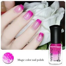6ml Thermal Nail Art Polish Color Changing Peel Off Peachblow to Pink Varnish