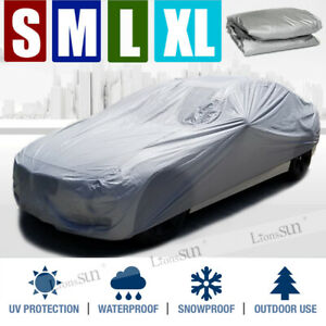 S-XL Full Car Cover Waterproof Sun UV Rain Snow Dust Outdoor Indoor Protection