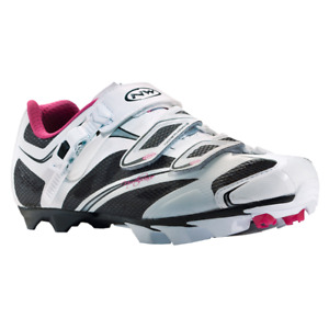 Northwave Katana SRS Mountain MTB Womens Shoes US 6.5 EU 38 White Black Pink