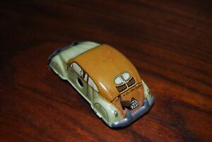 HUKI Germany Volkswagen VW Beetle SPLIT WINDOW Tin Wind up 1952