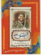 2010 Topps Allen & Ginter Framed Mini  Autographs #PS Pablo Sandoval  SF Giants