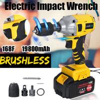 "12 Pcs 19800mAh 1/2"" Electric Brushless Impact Wrench Cordless Drive Drill"