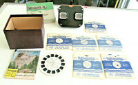 Vintage 1950s VIEWMASTER VIEWER IN Box with Reels Catalog, Viewer Card, 7 Reels