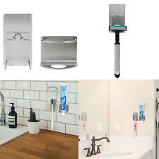 Stainless Steel Toothbrush Holder+Toothpaste Holder Set Wall Mount Stand Tool Us