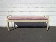Antiques Nib Vintage Powell Furniture Pink Green Wooden Stool Bench Never Assembled Benches & Stools