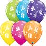 "5 Qualatex 11"" Latex Balloons - Christmas Presents & Stars Tropical Assortment"