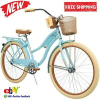"""Huffy 26"""" Womens Nel Lusso Cruiser Bike with Perfect Fit Frame Blue FREE SHIP"""