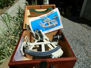 RARE VINTAGE Freiberger Marine Sextant with Carry Case Germany 1984 Nr. 131517