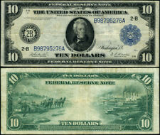 FR. 910 $10 1914 Federal Reserve Note New York VF