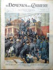 La Domenica del Corriere 21 Dicembre 1902 Mascagni Teatro Milanese Morti Aquila