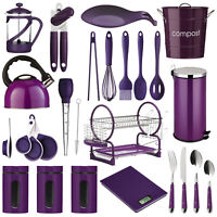 Purple Kitchen Accessories Utensils Storage Canisters Cutlery Bin Scales Kettle