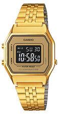 Casio LA680WGA-9B Ladies Gold Tone Digital Watch Mid-Size Retro Vintage New
