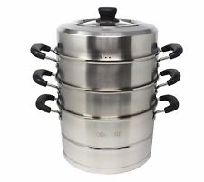 CONCORD Stainless Steel 3 Tier Premium Steamer Pot Cookware Avail in 4 Sizes
