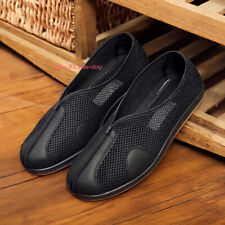 Mens Chinese Martial Art Kung Fu Mesh Cloth Shoes Casual Tai Chi Soft Sole Shoes