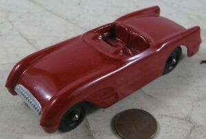 "Vintage 1950's Die Cast 4"" Tootsie Toy Convertible Chevrolet Corvette Car Red #1"