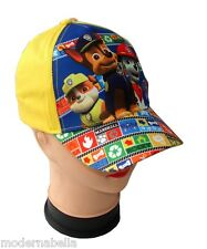 giallo Paw Patrol cappello con visiera Estivo Bambino Baseball originale tg.52