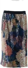 Isaac Mizrahi Floral Printed Sequin Pencil Skirt Multi Floral 12 NEW A344330