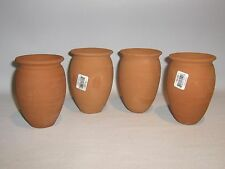 Jarritos/Cantaritos de Barro. Mexican Clay cups. Ethnic clay containers.SET OF 4