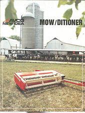 1980 NEW IDEA TRACTOR HAY MOWER CONDITIONER  BROCHURE