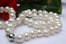 A1A Echt Süßwasser Perlen Schmuck Perlenkette Halskette Kette Collier naturlich