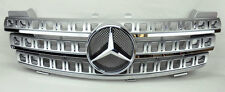 Mercedes ML Class W164 06-08 3 Fin Front Hood Sport Silver Chrome Grill Grille